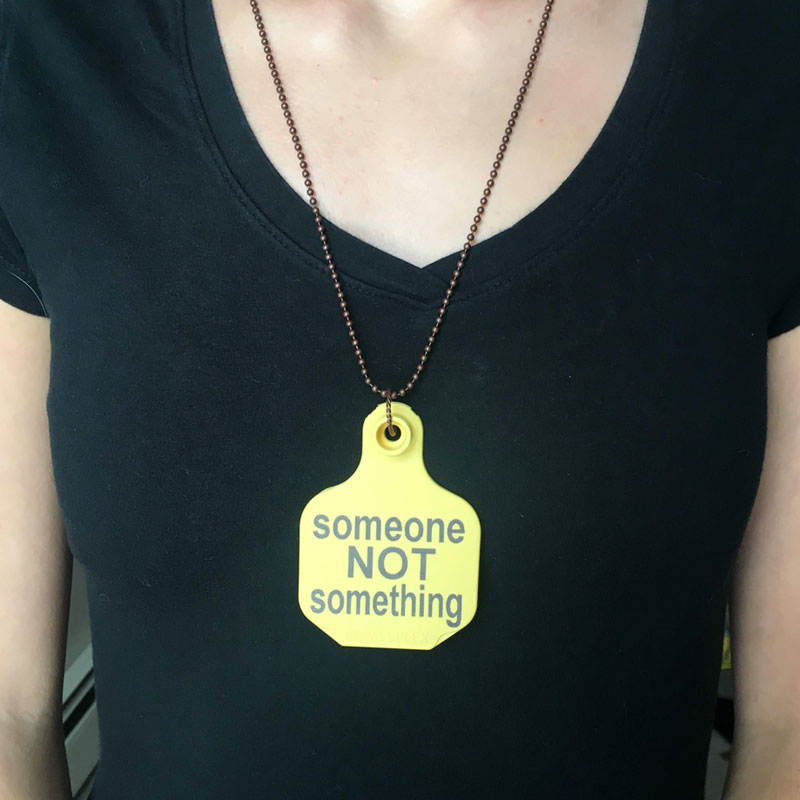 Start conversations with this necklace. Perfect for animal rights and vegan activism.