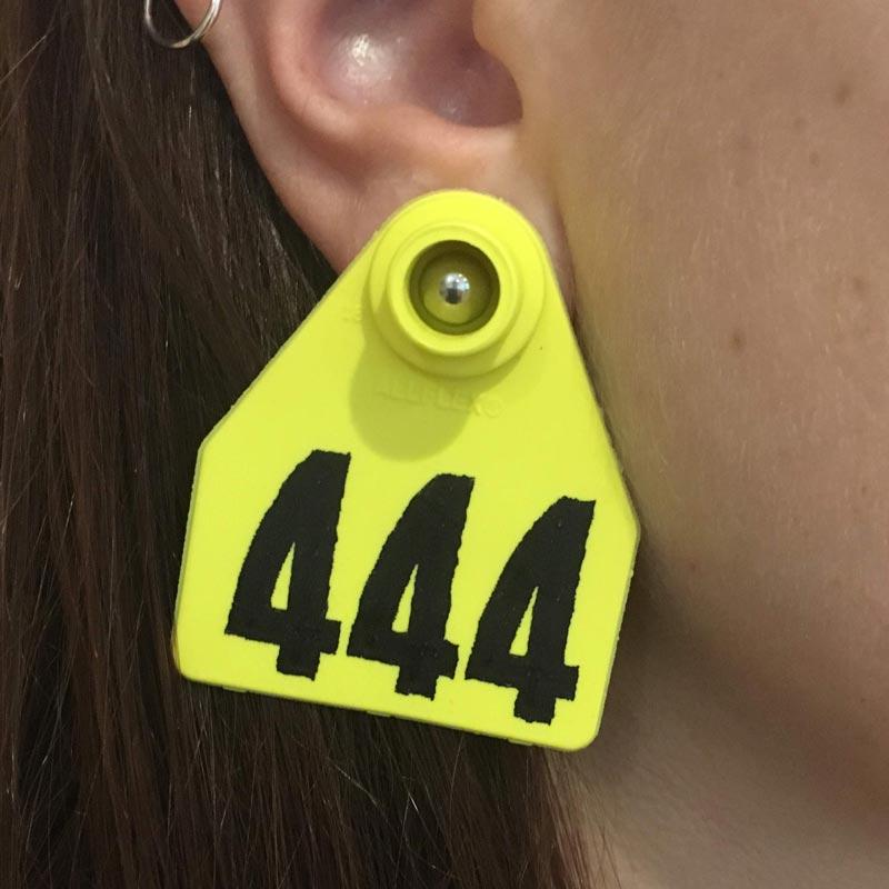 Dirty Snouts Animal Ear Tag Earrings