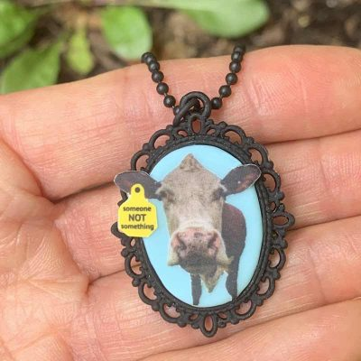 "Ellie Mae ""cowmeo"" handmade necklace"