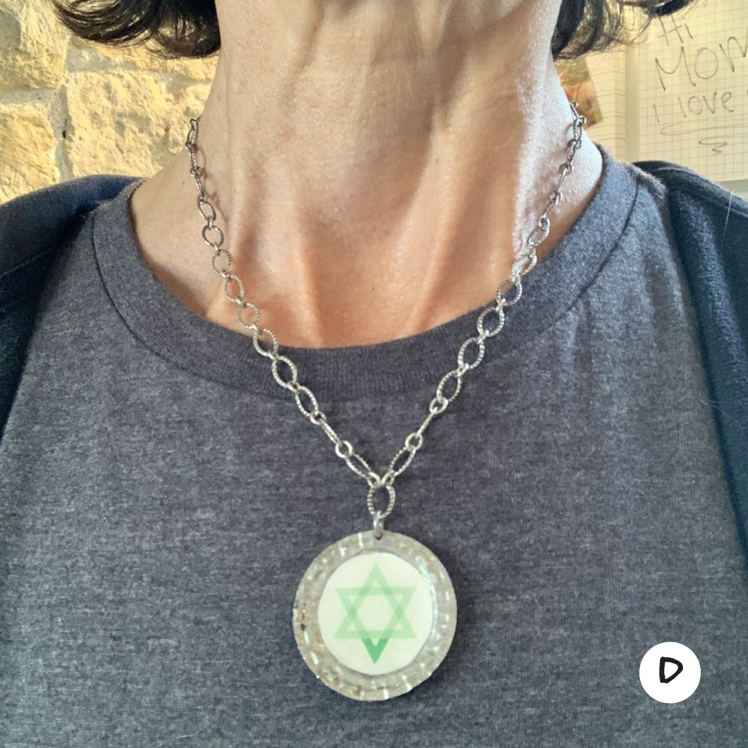 Jewish Vegan Star of David necklaces
