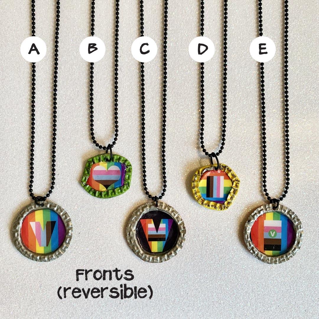 Vegan pride necklaces